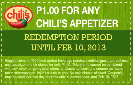 Php 1 for any appetizer to satisfy your Mexican food craving!