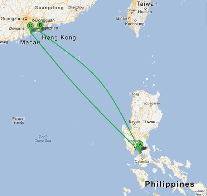 Manila > Hong Kong > Macau