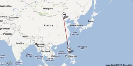 Non-stop flights from Manila to China via PR, 5J,  Z2, CA and CZ flights.