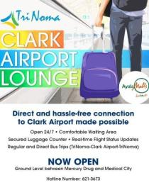 Trinoma and Clark Airport Lounge